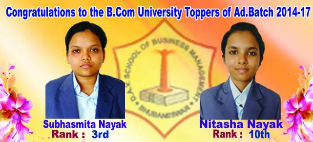 Outstanding performers of B.Com Batch-2014-17
